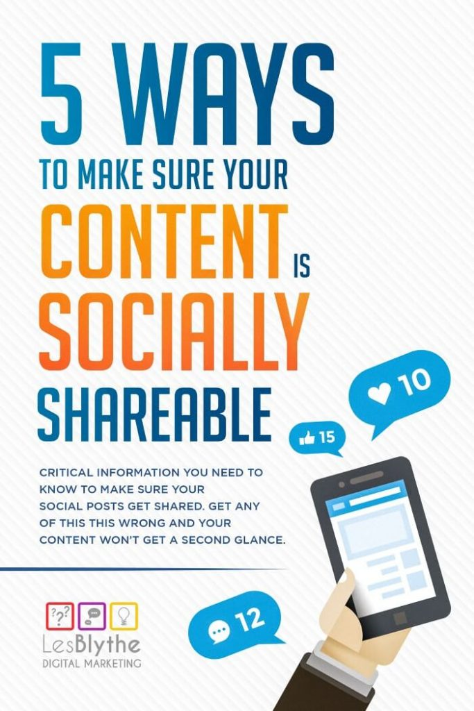 make your content socially shareable facebook twitter linkedin